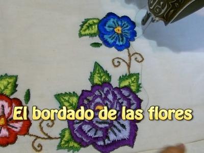 Bordado de las flores |Creaciones y manualidades angeles