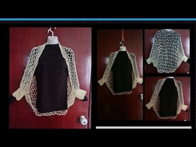 Capa, Chalina, torera tejida a crochet y Agujas  Fácil y muy Bonita