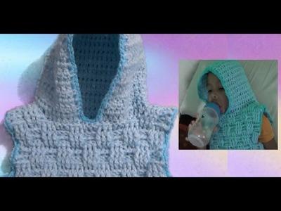 Chaleco para niño a Crochet talla 2 a 4 años