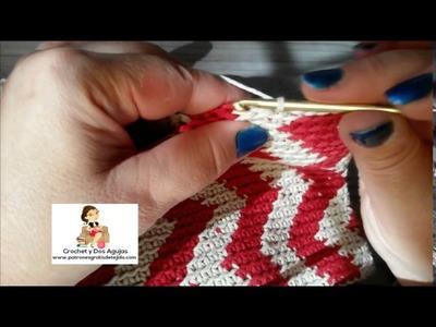 Cómo cerrar la base del clutch tapestry crochet