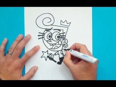 Como dibujar a Wanda paso a paso - Los padrinos magicos | How to draw Wanda - The Fairly OddParents
