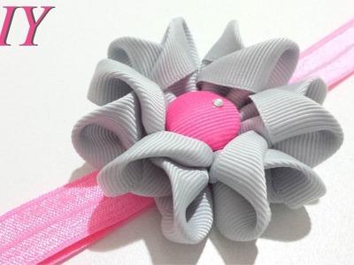 Como Hacer Lazos ???? DIY #94 Flor de Cinta en Cintillo Tutorial