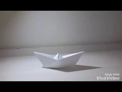 Como hacer un barco de papel-Manualidades faciles