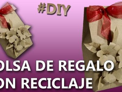 COMO HACER UNA BOLSA DE REGALO RECICLABLE | Manualidades bolsas de papel para regalo