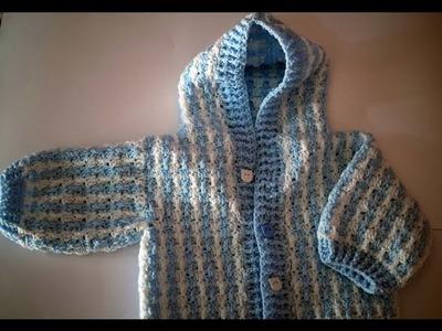 Cómo tejer abrigo de bebé en crochet 1ª parte  muy fácil y rapido