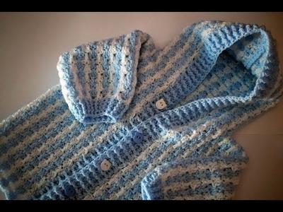 Cómo tejer abrigo de bebé en crochet 2ª parte  muy fácil y rapido