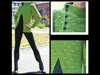 Crochet tutorial  cardigan.chaqueta  de primavera