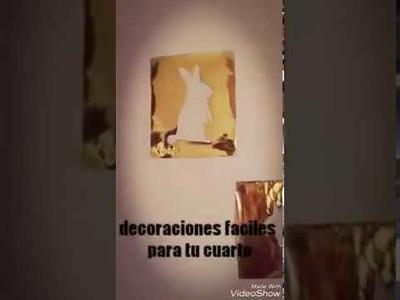 Decoraciones para tu cuarto|manualidades con malu