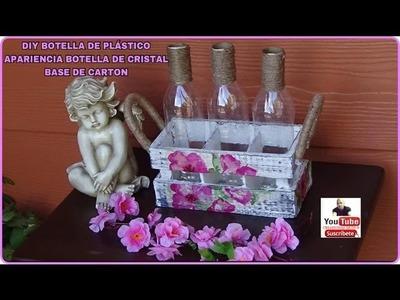 DIY BOTELLAS DE PLASTICO APARIENCIA BOTELLAS DE CRISTAL BASE DE CARTON