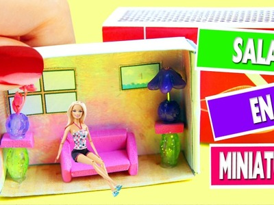 DIY  Casitas de Muñecas en Miniatura Video Tutorial- Sala en una cajita de cerillas