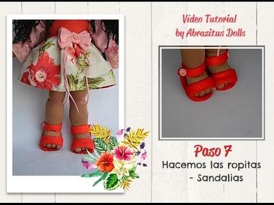 DIY - Como hacer muñeca soft: Paso 07  Final - Hacemos las ropitas   Sandalias