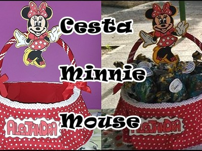 DIY: Cómo hacer una Cesta de Minnie Mouse. Minnie Mouse Basket Tutorial