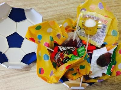 DIY: Dulcero.caja de regalo.balón de futbol. soccer.(día del niño)