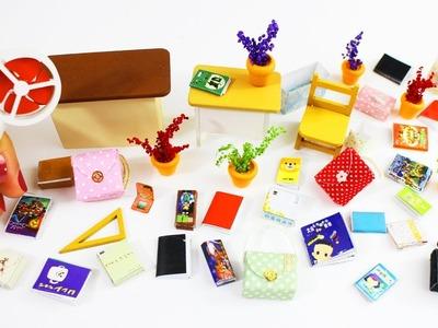 DIY Escuela en Miniatura +10 Manualidades en miniatura para el colegio cada una en menos de 1 minuto
