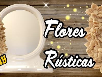 DIY Espejo con Flores Rusticas Tutorial DIY Manualidades