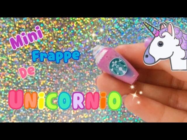 DIY Haz tu propio Frappe de Unicornio Fácil. Frappe Unicornio Mini!