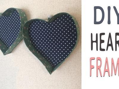 Diy-  Heart Frames ( Reciclaje Cartón )