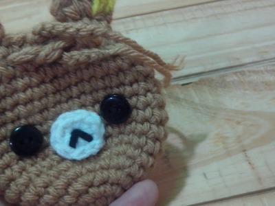 DIY: Monedero de Oso, Osito Rilakkuma - Tutorial paso a paso monedero tejido a crochet