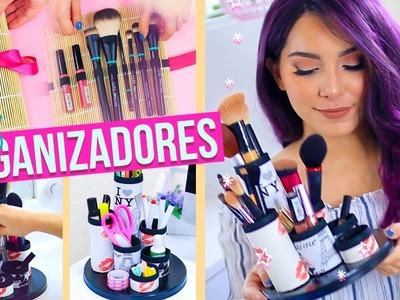 DIY ORGANIZADORES PARA BROCHAS, MAQUILLAJE Y ESCRITORIO (Organiza y Decora) ♥ Jimena Aguilar