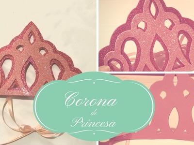 DIY: tutorial corona de cumpleaños tipo tiara de princesa