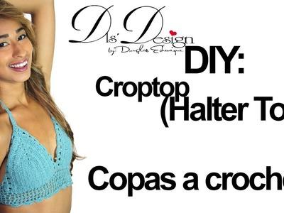 DIY: tutorial de Top ● (Halter Top - COPAS) ● tejido a crochet paso a paso