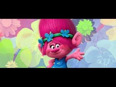 Flor de foami. Flor troll diy
