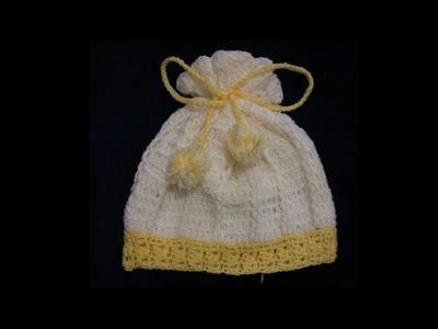 Gorro con relieve para bebé tejido a crochet  Muy fácil