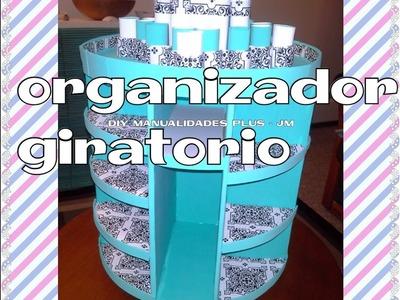 Manualidad : organizador giratorio para maquillaje ♥DIY rotating makeup organizer