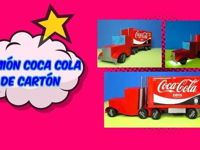 Manualidades fáciles con cartón - Camión de Coca Cola DIY