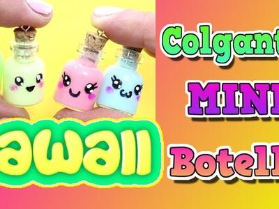 Mini botellas decoradas | Colgantes kawaii DIY | Cómo se hace ? Tutorial