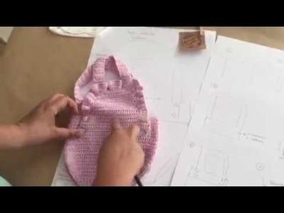 Peto o pelele tejido a crochet para bebé de 3-6 meses