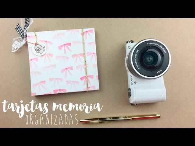 Porta tarjetas de memoria: TUTORIAL SCRAPBOOKING