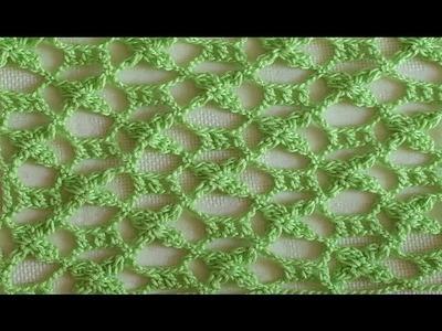 Punto fantasia en crochet - crochet punto calado - ideal para blusa, chal, manta para bebe
