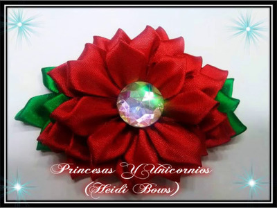 Rosa de liston (Liston rose Ribbon)DIY TUTORIAL RIBBONS ROSE