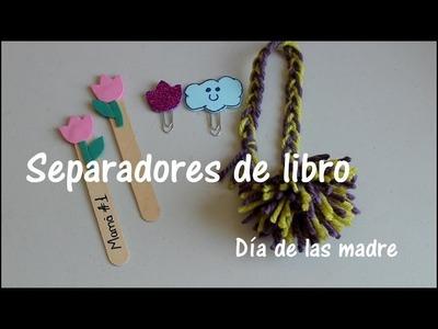 Separadores de libro, detalle para el día de las madres DIY