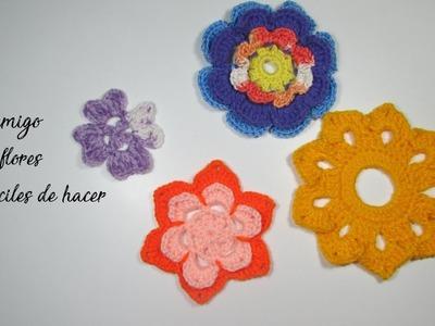 Flores Sencillas De Ganchillo With Flores Sencillas De Ganchillo