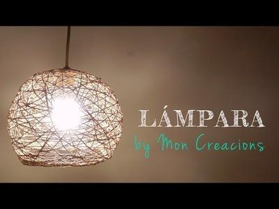 Tutorial DIY - Lámpara con hilo rústico