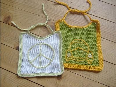 Babero tejido a crochet facil de hacer