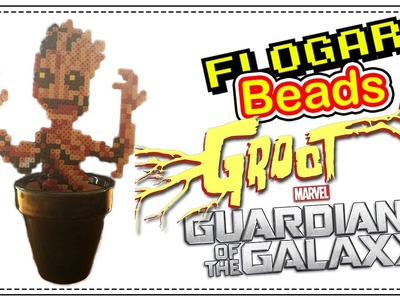 BABY GROOT (GUARDIANES DE LA GALAXIA) - HAMA BEADS DE CINE - DIY - FLOGAR BEADS TUTORIALES