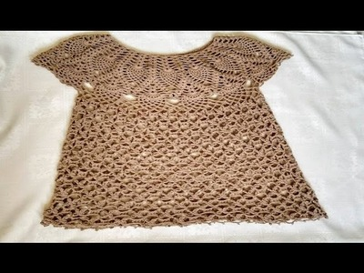 Blusa tejida en crochet. Blusa tejida para dama en ganchillo parte 3