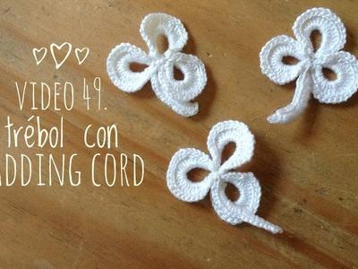 Bolero en crochet irlandés para boda: trebol con padding cord- Tejidos Circulos