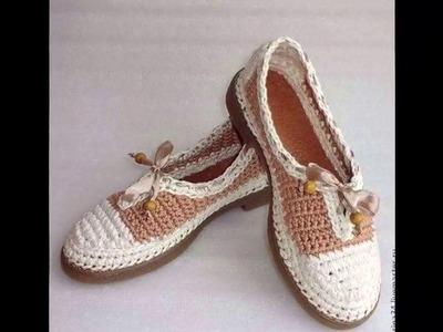 Bota - Sandalia Tejida en Crochet