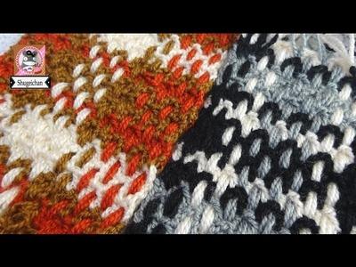 Bufanda tipo telar a crochet FACIL DE HACER
