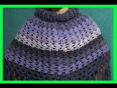 Capa en Abanicos Zigzag a Crochet
