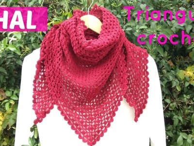 Chal triangular a crochet facil