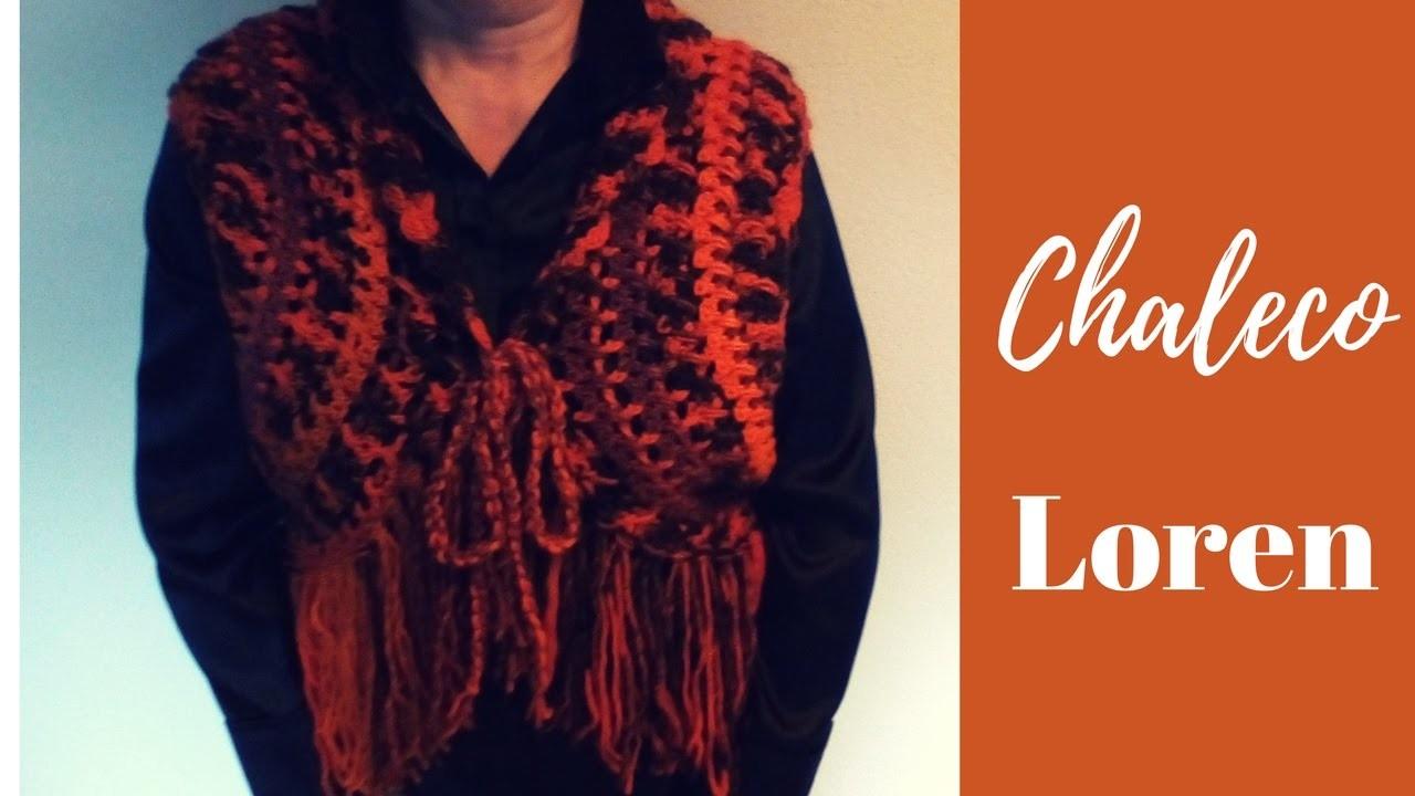 "Chaleco ""Loren"" (ganchillo. crochet) - Parte 1"