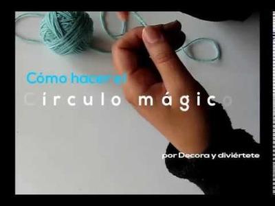 Círculo mágico para crochet