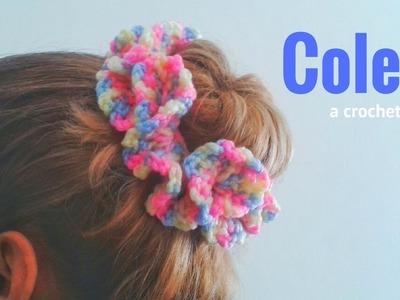 Coletero o Goma para el Cabello a Crochet *Scrunchie crochet*