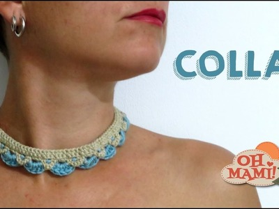 Collar sencillo a crochet