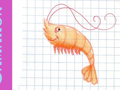 Como dibujar Un CAMARÓN GAMBA How to draw a Shrimp ANIMALES MARINOS Acuáticos Mar Tutorial ILUSTRA S